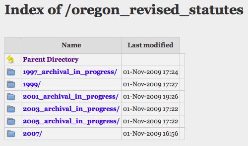 WebLaws Archive Listing